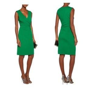 Diane von furstenberg green knit dress